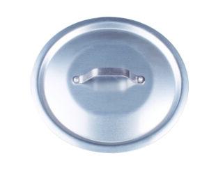 Coperchio rotondo in alluminio nudo con ponticello in acciaio inox